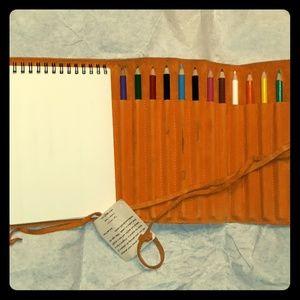 Leather Portfolio Sketch Art Gift Set-unisex